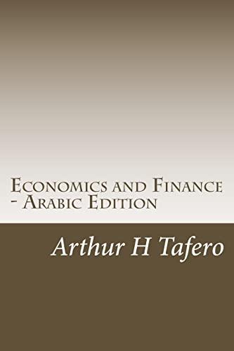 Economics and Finance - Arabic Edition: Includes: Tafero, Arthur H.