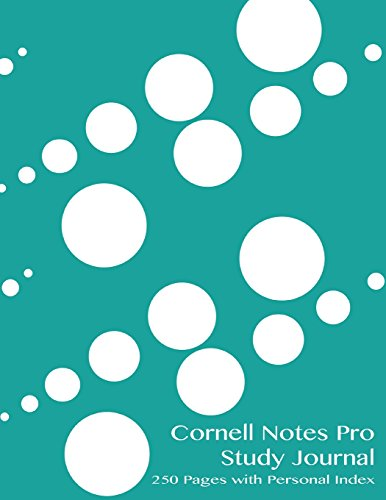 9781500770198: Cornell Notes Pro Study Journal 250 pages with Personal Index: Dewdrops notebook for Cornell notes with turquoise cover - 8.5