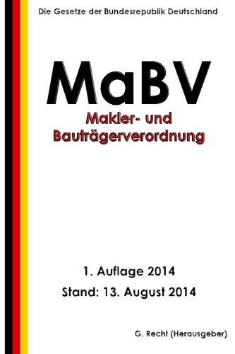 9781500831363: Makler- und Bauträgerverordnung - MaBV