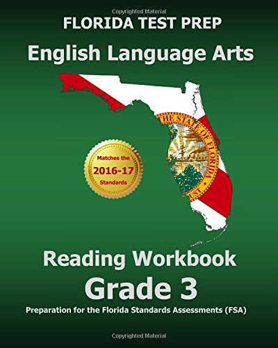 9781500973070: FLORIDA TEST PREP English Language Arts Reading Workbook Grade 3: Preparation for the Florida Standards Assessments (FSA)