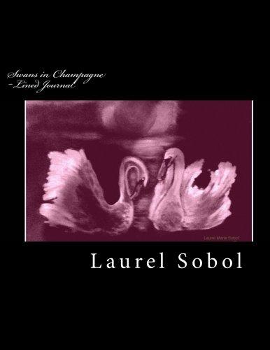 Swans in Champagne Glow Lined Journal Fine: Laurel Marie Sobol