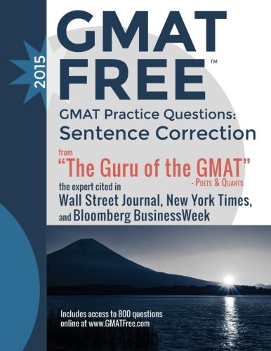 GMAT Practice Questions: Sentence Correction: GMAT Free