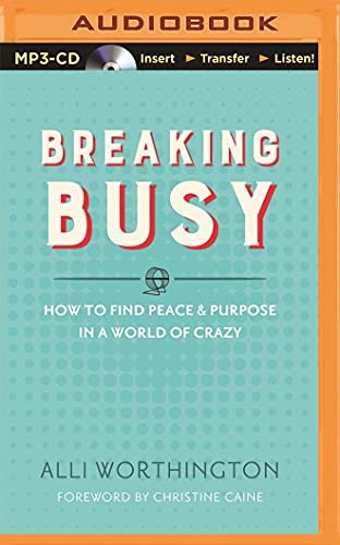 9781501281327: Breaking Busy: How to Find Peace and Purpose in a World of Crazy