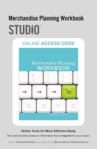 Merchandise Planning Workbook Format: Online resource: LaFleur Rosetta