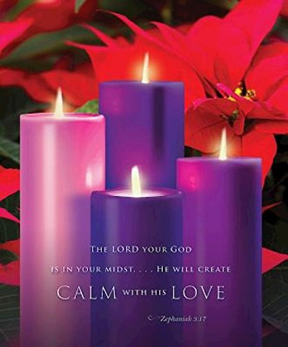 Calm with His Love Advent Sunday 4 Bulletin 2015, Large (Pkg of 50)