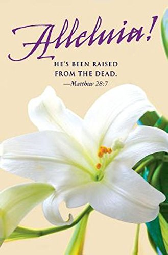 He's Been Raised Lilies Easter Bulletin (Pkg of 50)
