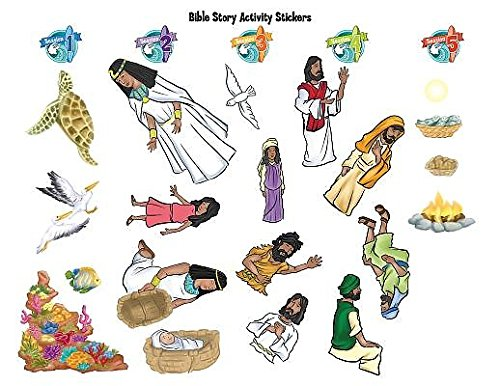 9781501811623: Vacation Bible School (VBS) 2016 Surf Shack Bible Story Activity Stickers: Catch the Wave of God's Amazing Love