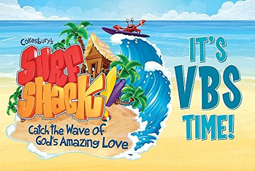 9781501811647: Vacation Bible School (VBS) 2016 Surf Shack Invitation Postcards (Pkg of 25): Catch the Wave of God's Amazing Love