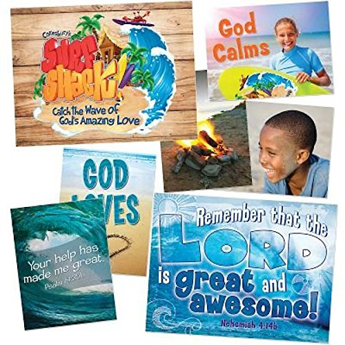 9781501811685: Vacation Bible School (VBS) 2016 Surf Shack Decorating Poster Pak: Catch the Wave of God's Amazing Love