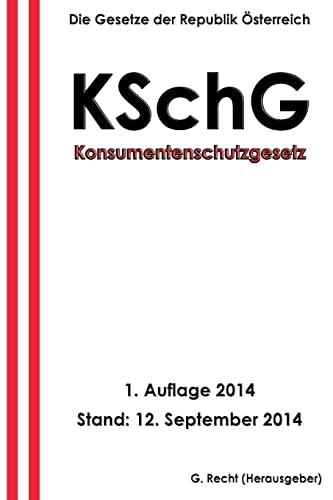 Konsumentenschutzgesetz - Kschg: Recht, G.