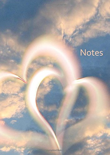 9781502444165: Notizbuch - Herzen im Himmel: DIN A5, liniert