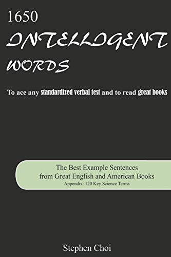 9781502497840: 1650 Intelligent Words: The Best Example Sentences from Great English and American Books