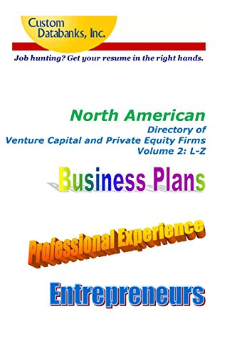 9781502569950: North American Directory of Venture Capital and Private Equity Firms Volume 2: Job Hunting? Get Your Resume in the Right Hands
