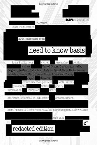 Need to Know Basis (redacted edition): Scars Publications; Brian