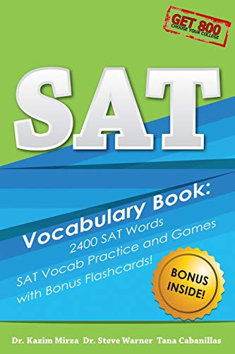 SAT Vocabulary Book : 2400 SAT Words, SAT Vocab Practice and Games with Bonus Flashcards!