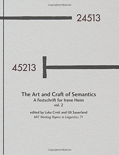 9781502857521: The Art and Craft of Semantics, Vol. 2: MIT Working Papers in Linguistics 71 (MITWPL)