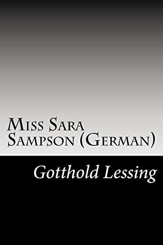 Miss Sara Sampson (German): Lessing, Gotthold Ephraim