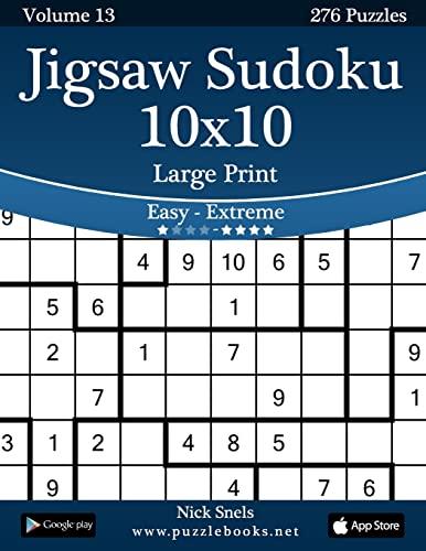 9781502901170: Jigsaw Sudoku 10x10 Large Print - Easy to