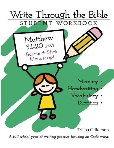9781502992482: Write Through the Bible: Matthew 5:1 - 20 ESV Ball and Stick Manuscript