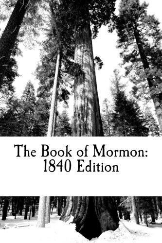 9781502995216: The Book of Mormon: 1840 Edition