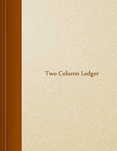 "Two Column Ledger: 8.5"""" X 11"""","
