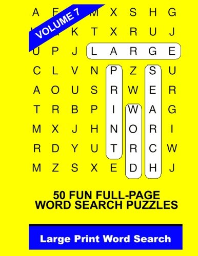 Large Print Word Search Vol. 7: Word Search, Large Print