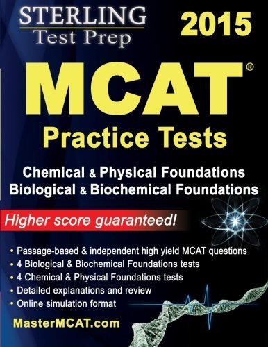 9781503325036: Sterling Test Prep MCAT Practice Tests: Chemical & Physical + Biological & Biochemical Foundations