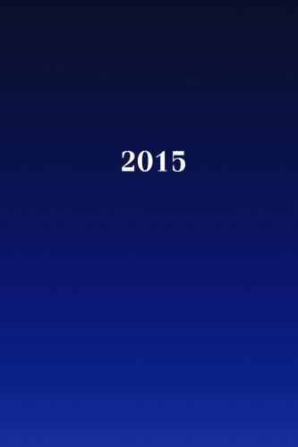 9781503355125: 2015: Kalender/Terminplaner: 1 Woche auf 2 Seiten, Format ca. A5, Cover blau: Volume 8