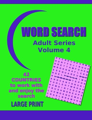 9781503376588: Word Search Adult Series Volume 4: Countries