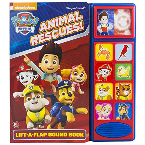 9781503731462: Nickelodeon PAW Patrol - Animal Rescues! Lift-a-Flap Sound Book - PI Kids