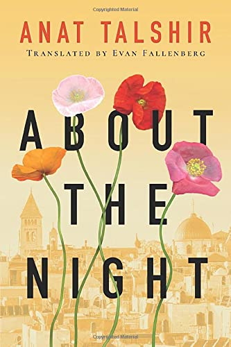 About the Night 9781503936034 On a hot summer day in 1947, on a grandstand overlooking Jerusalem, Elias and Lila fall deeply, irrevocably in love. Tragically, they come from two different worlds. Elias is a Christian Arab living on the eastern side of the newly divided city, and Lila is a Jew living on the western side. A growing conflict between their cultures casts a heavy shadow over the region and their burgeoning relationship. Between them lie not only a wall of stone and barbed wire but also the bitter enmity of two nations at war. Told in the voice of Elias as he looks back upon the long years of his life, About the Night is a timely story of how hope can nourish us, loss can devastate us, and love can carry us beyond the boundaries that hold human beings apart.