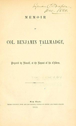9781504204576: Memoir of Col. Benjamin Tallmadge: