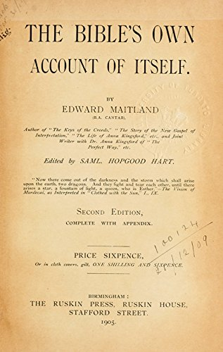 9781504204972: The Bible's Own Account of Itself: