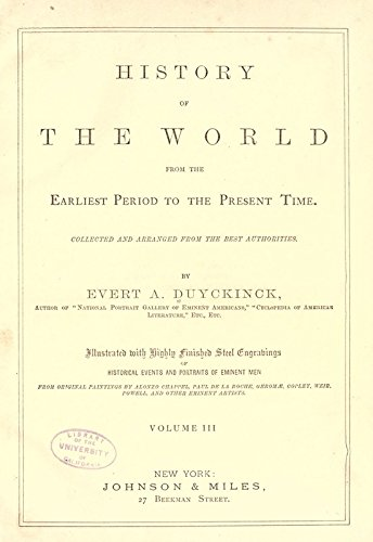 9781504207836: History of the World from the Earliest Period to the Present Time