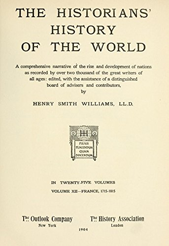 9781504216104: The Historians' History of the World; A Comprehensive Narrative of the Rise and Development of Nations As Recorded By Over Two Thousand of the Great Writers of All Ages