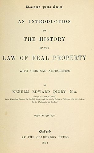 9781504220149: An Introduction to the History of the Law of Real Property, With Original Authorities