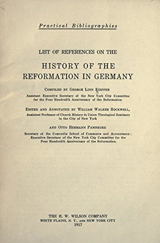 9781504223607: List of References on the History of the Reformation in Germany