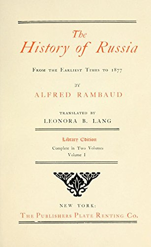 9781504238021: The History of Russia from the Earliest Times to 1877