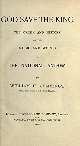 9781504240017: God Save the King; The Origin, and History of the Music and Words of the National Anthem