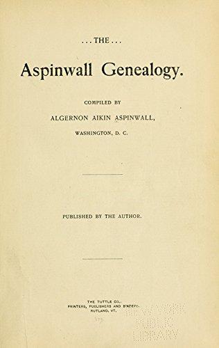 9781504249126: The Aspinwall Genealogy: