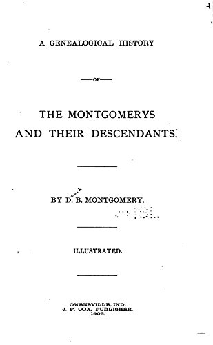 9781504249188: A Genealogical History of the Montgomerys and their Descendants: