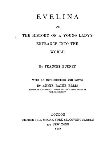 9781504257046: Evelina, Or, the History of A Young Lady's Entrance Into the World
