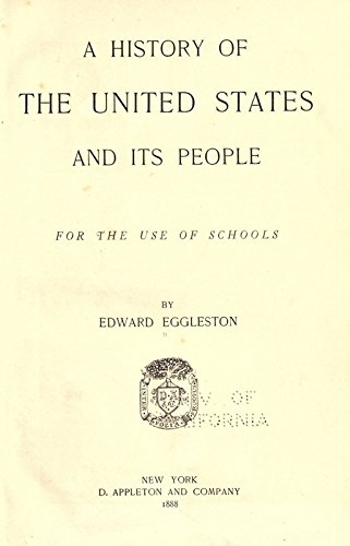 9781504261739: A History of the United States and Its People: For the Use of Schools