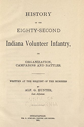 9781504262347: History of the Eighty-Second Indiana Volunteer Infantry: Its Organization, Campaigns and Battles