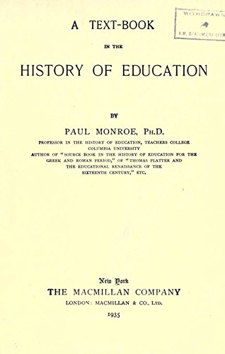 9781504278348: A Text-Book in the History of Education, By Paul Monroe