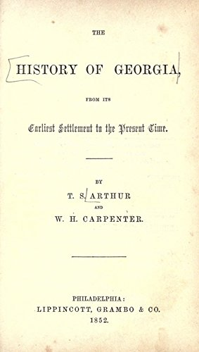 9781504295574: The History of Georgia, From Its Earliest Settlement to the Present Time