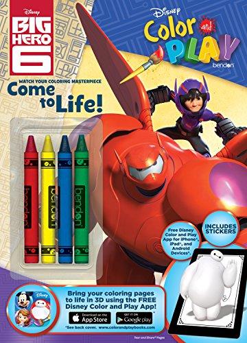 9781505003857: Big Hero 6 Color & Play