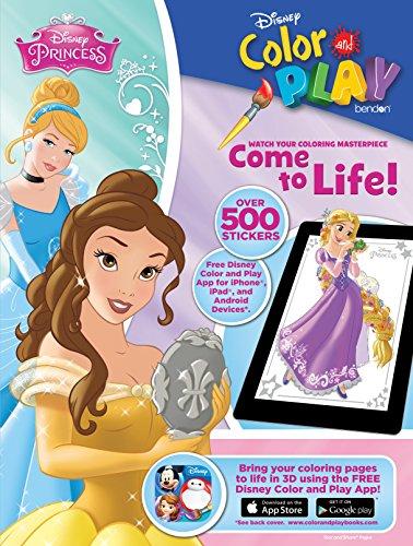 9781505004014: Disney Princess Color & Play Giant Sticker Book