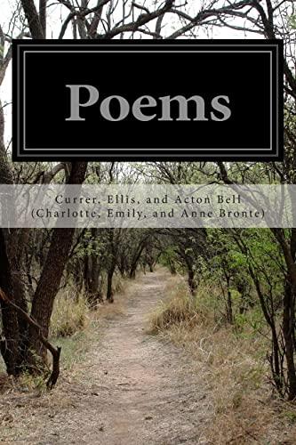 Poems: Charlotte, Emily,; Anne