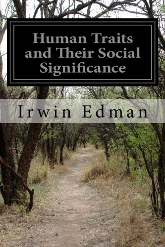 9781505518252: Human Traits and Their Social Significance